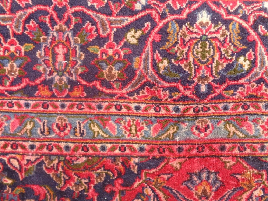 Semi Antique Persian Kashan Rug 9x6 - 4