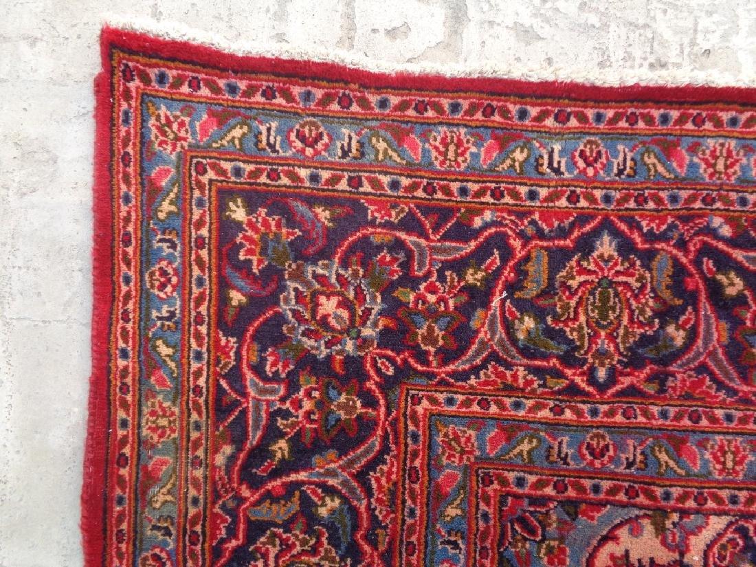 Semi Antique Persian Kashan Rug 9x6 - 5