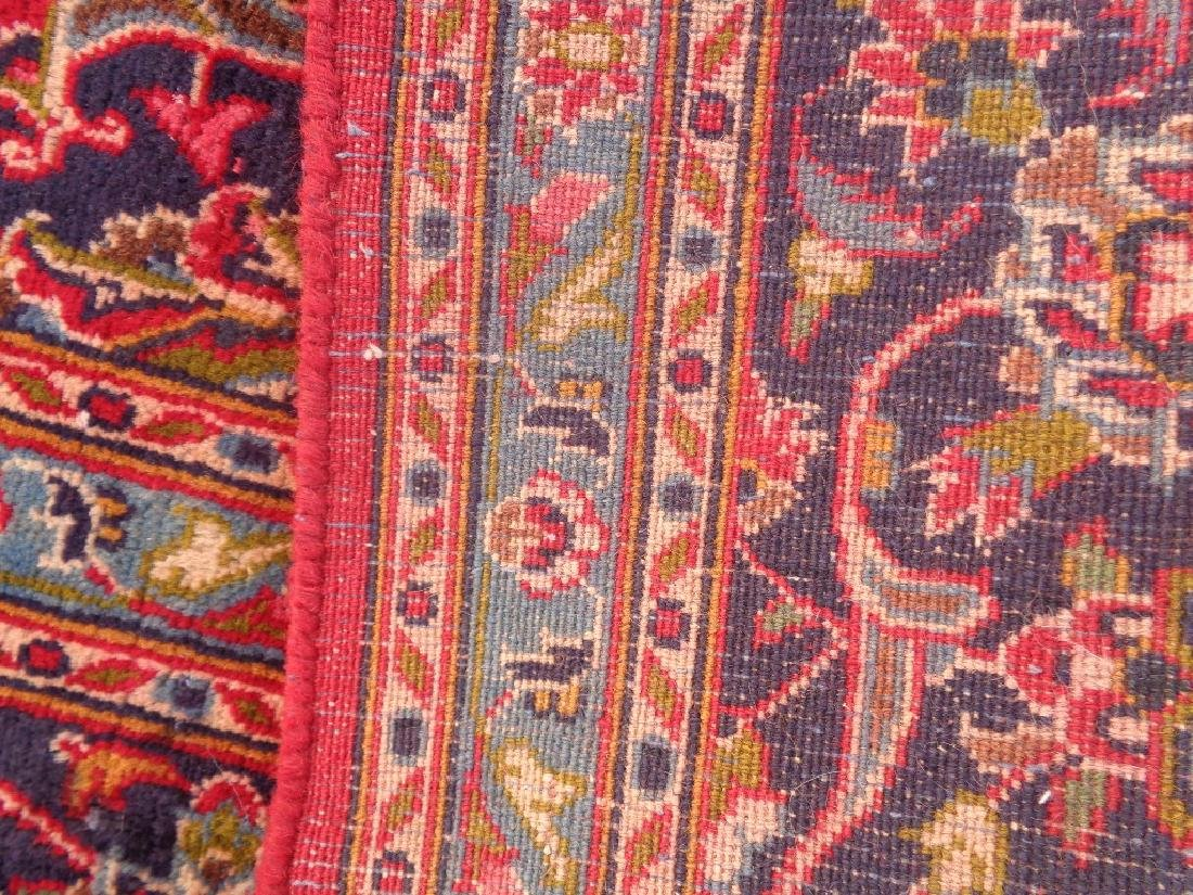 Semi Antique Persian Kashan Rug 9x6 - 6