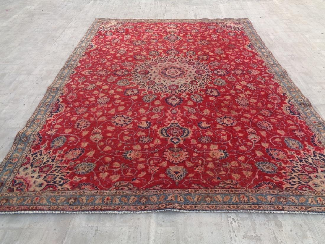 Semi Antique Persian Mashad Rug 10x7