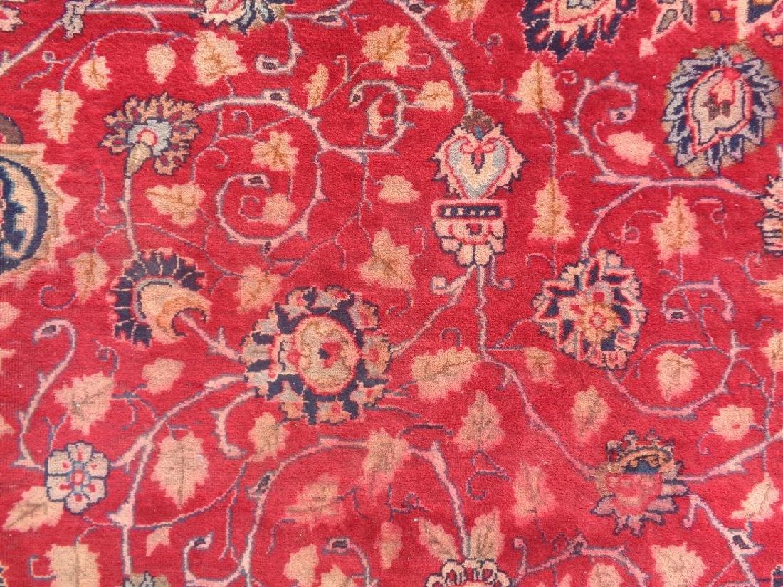 Semi Antique Persian Mashad Rug 10x7 - 4