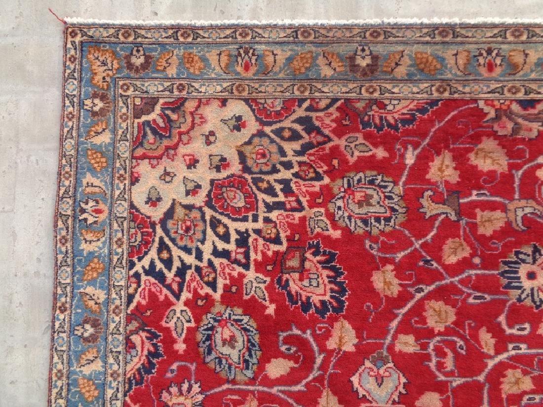 Semi Antique Persian Mashad Rug 10x7 - 5