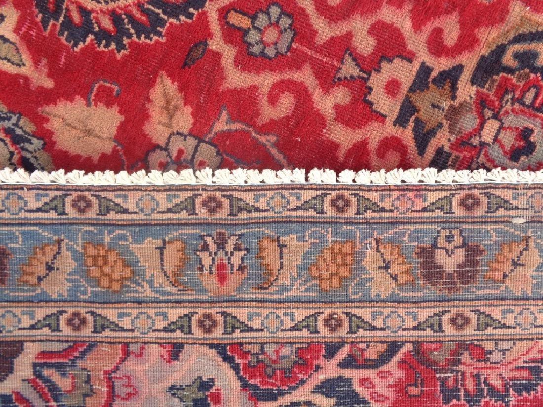 Semi Antique Persian Mashad Rug 10x7 - 6