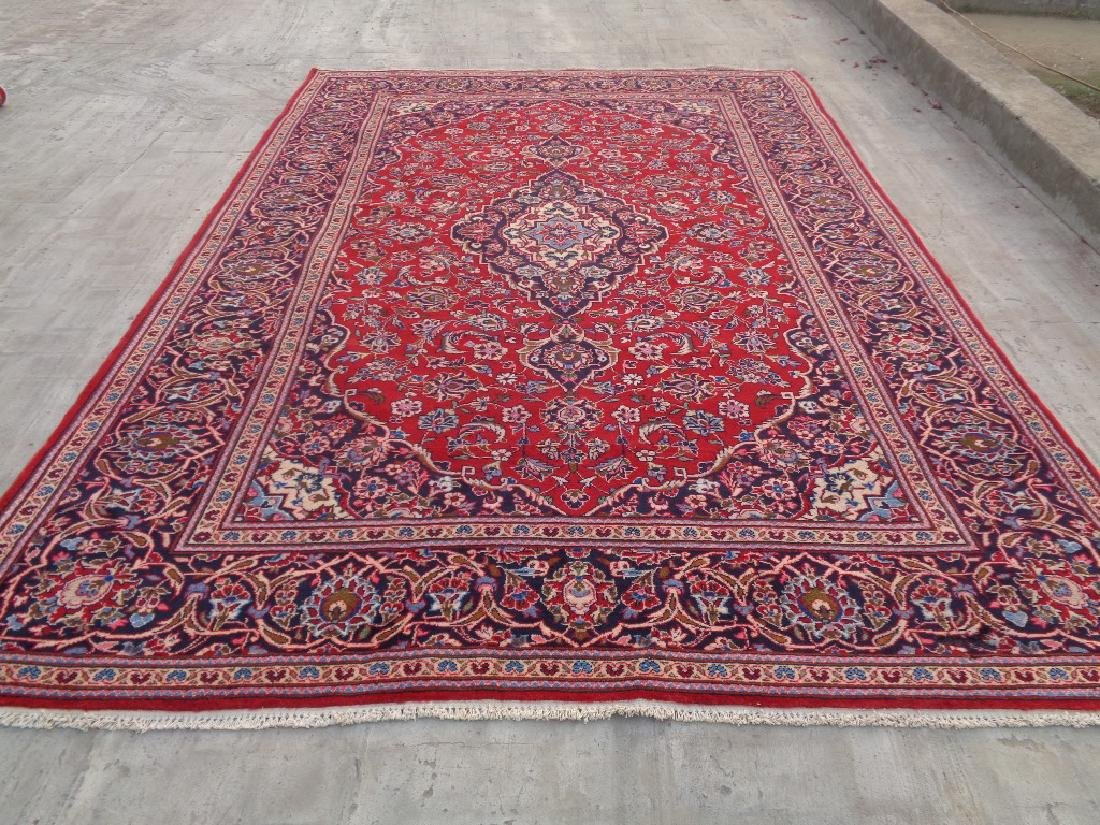 Semi Antique Persian Kashan Rug 11x8