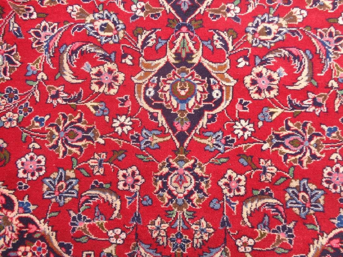 Semi Antique Persian Kashan Rug 11x8 - 2
