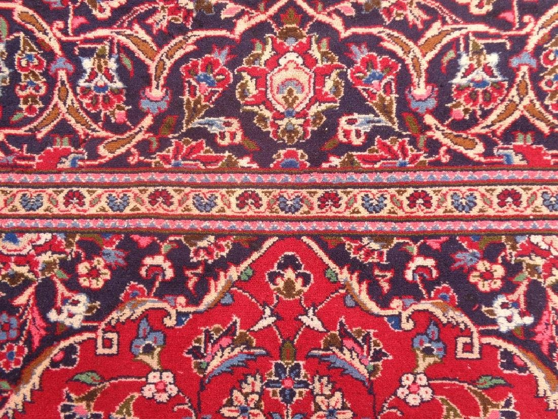 Semi Antique Persian Kashan Rug 11x8 - 4