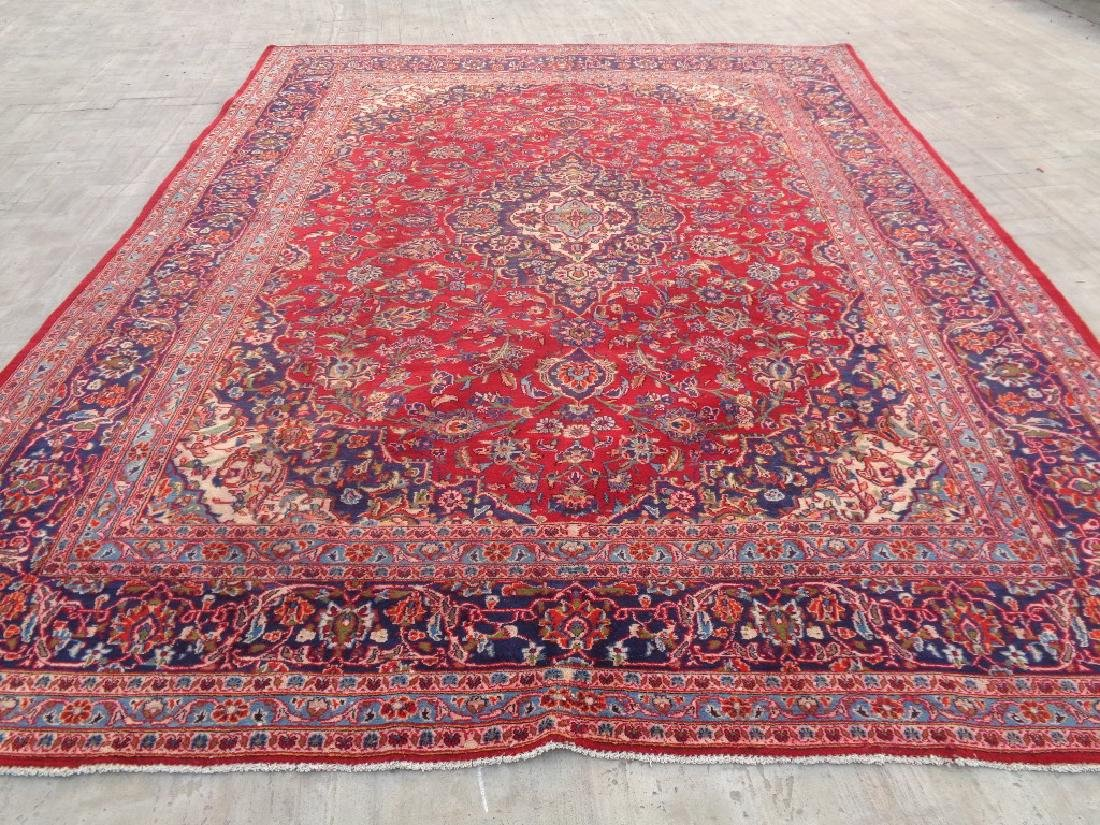 Semi Antique Persian Kashan Rug 13x10