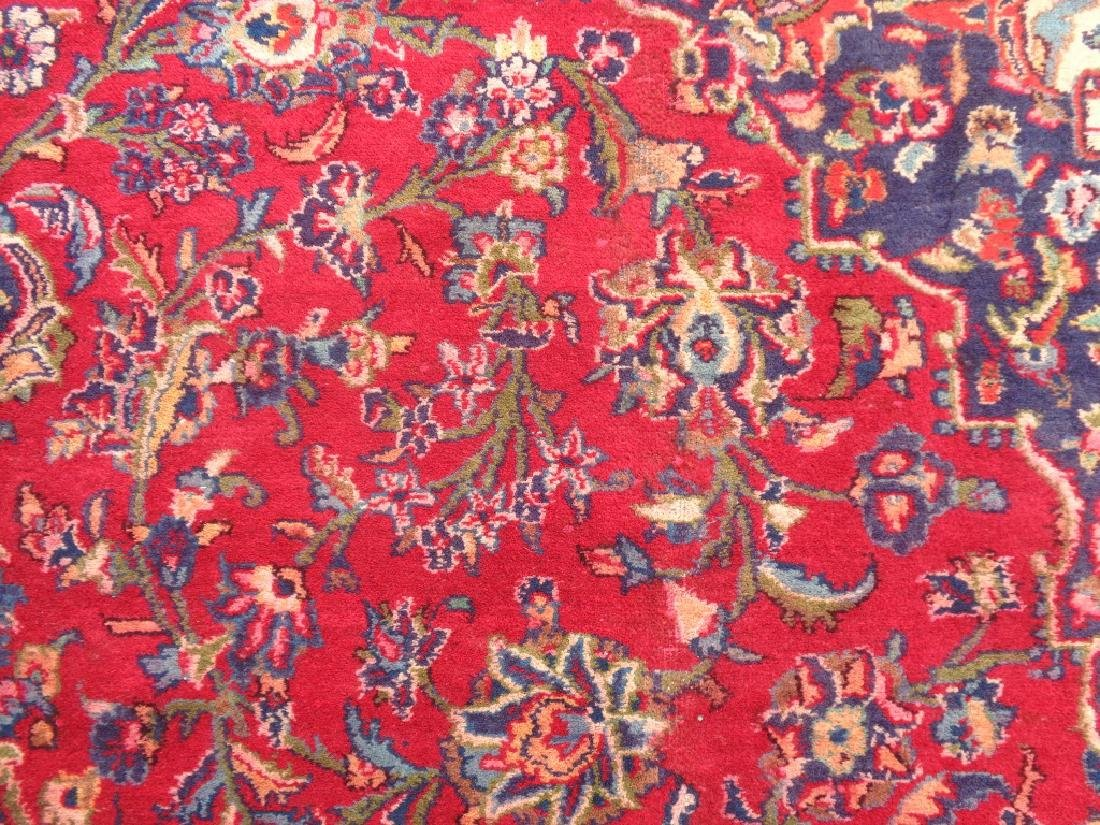 Semi Antique Persian Kashan Rug 13x10 - 4
