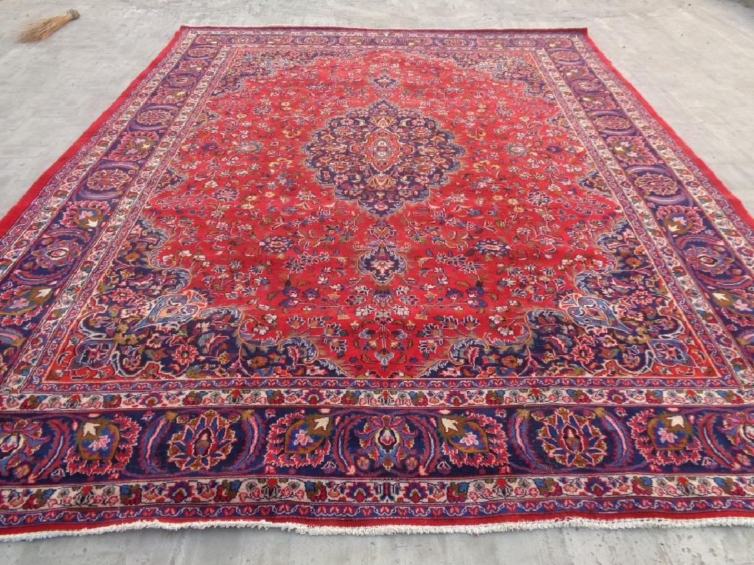 Semi Antique Persian Kashan Rug 13x10