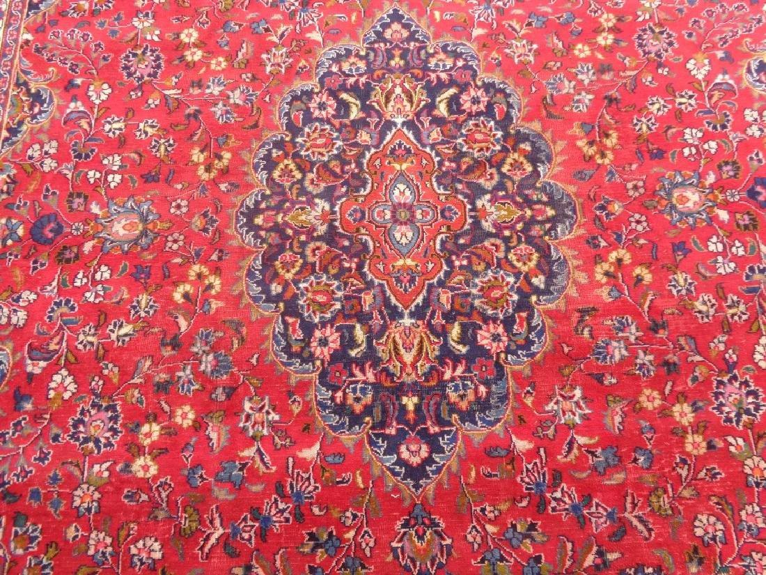 Semi Antique Persian Kashan Rug 13x10 - 3