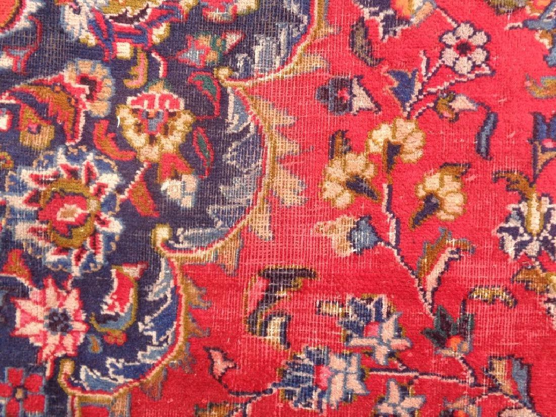 Semi Antique Persian Kashan Rug 13x10 - 4