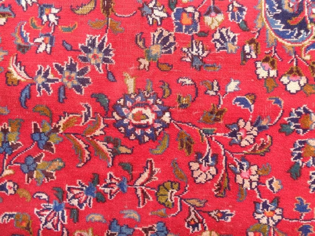 Semi Antique Persian Kashan Rug 13x10 - 5