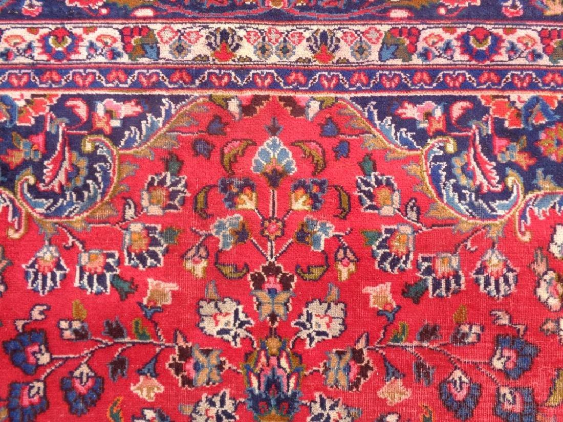 Semi Antique Persian Kashan Rug 13x10 - 6