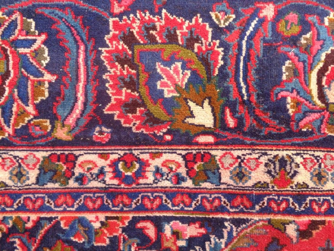 Semi Antique Persian Kashan Rug 13x10 - 7