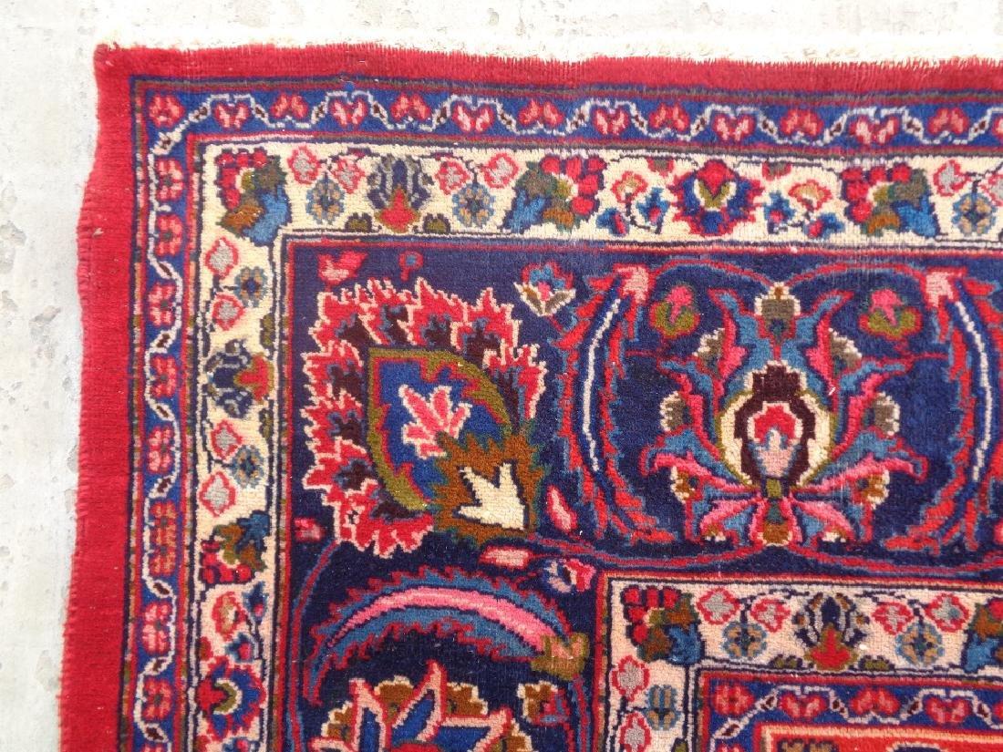 Semi Antique Persian Kashan Rug 13x10 - 8