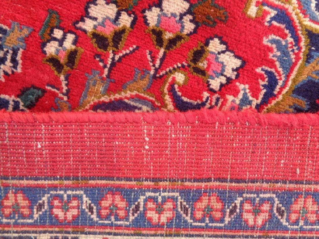 Semi Antique Persian Kashan Rug 13x10 - 9