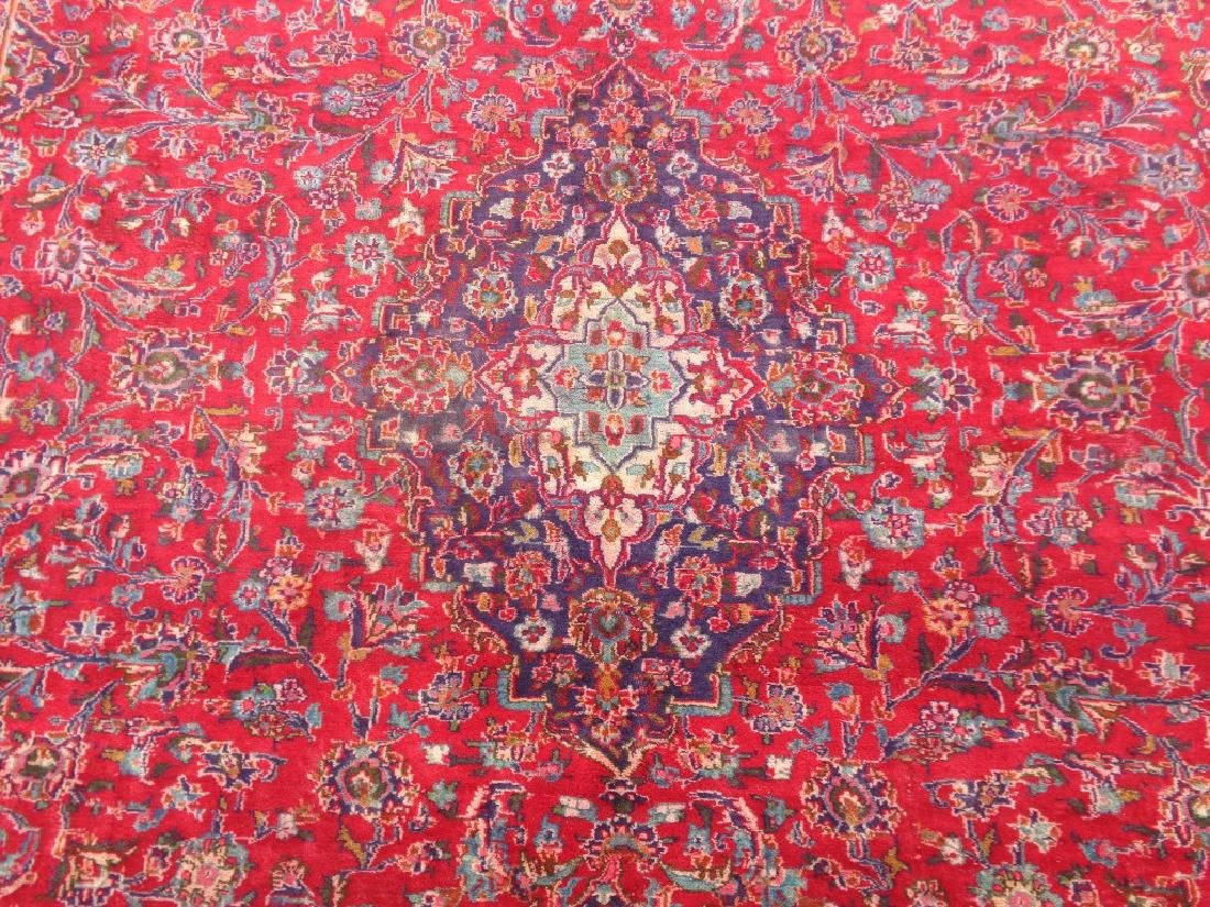 Semi Antique Persian Kashan Rug 13x10 - 2
