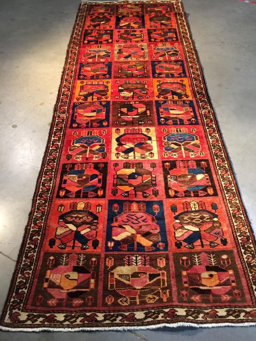 Persian Semi Antique Bakhtiari Runner Rug 3.5x10