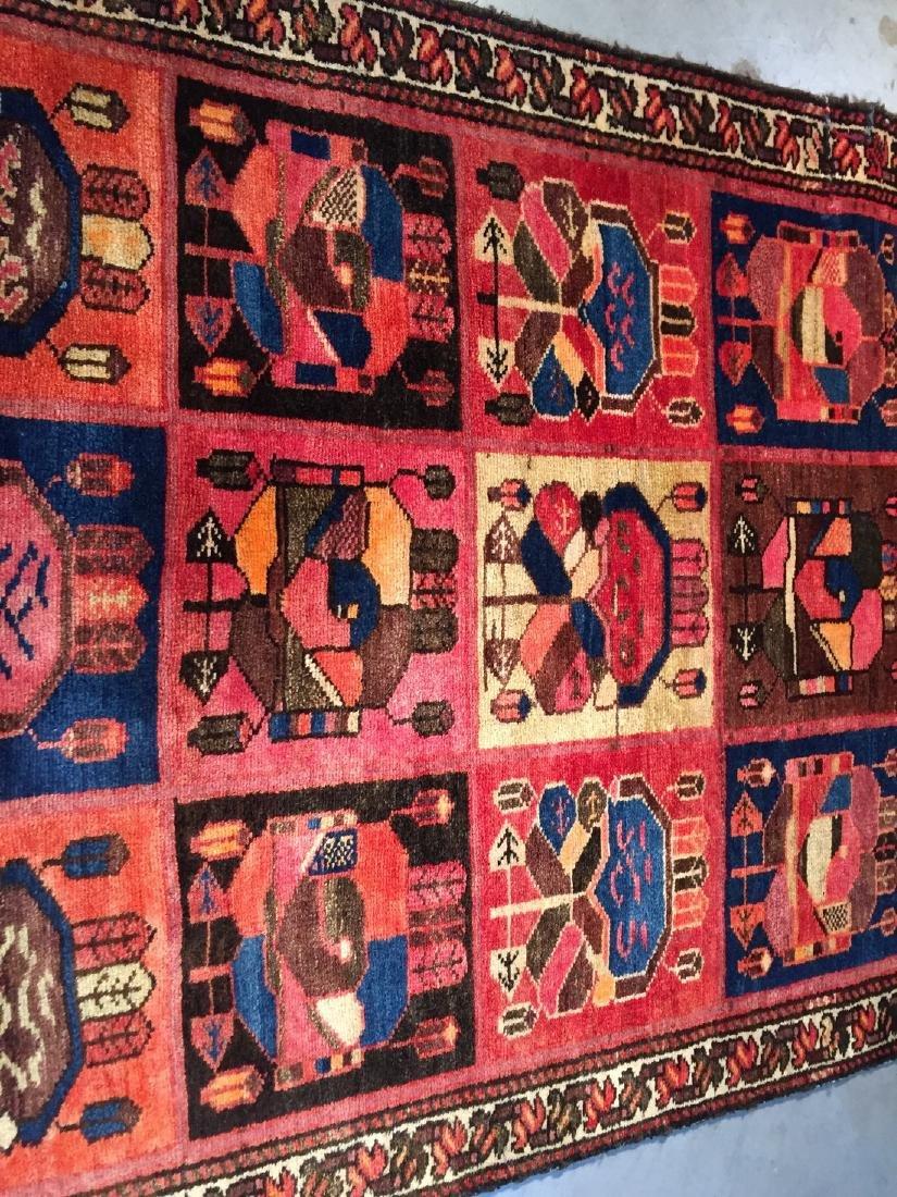 Persian Semi Antique Bakhtiari Runner Rug 3.5x10 - 2
