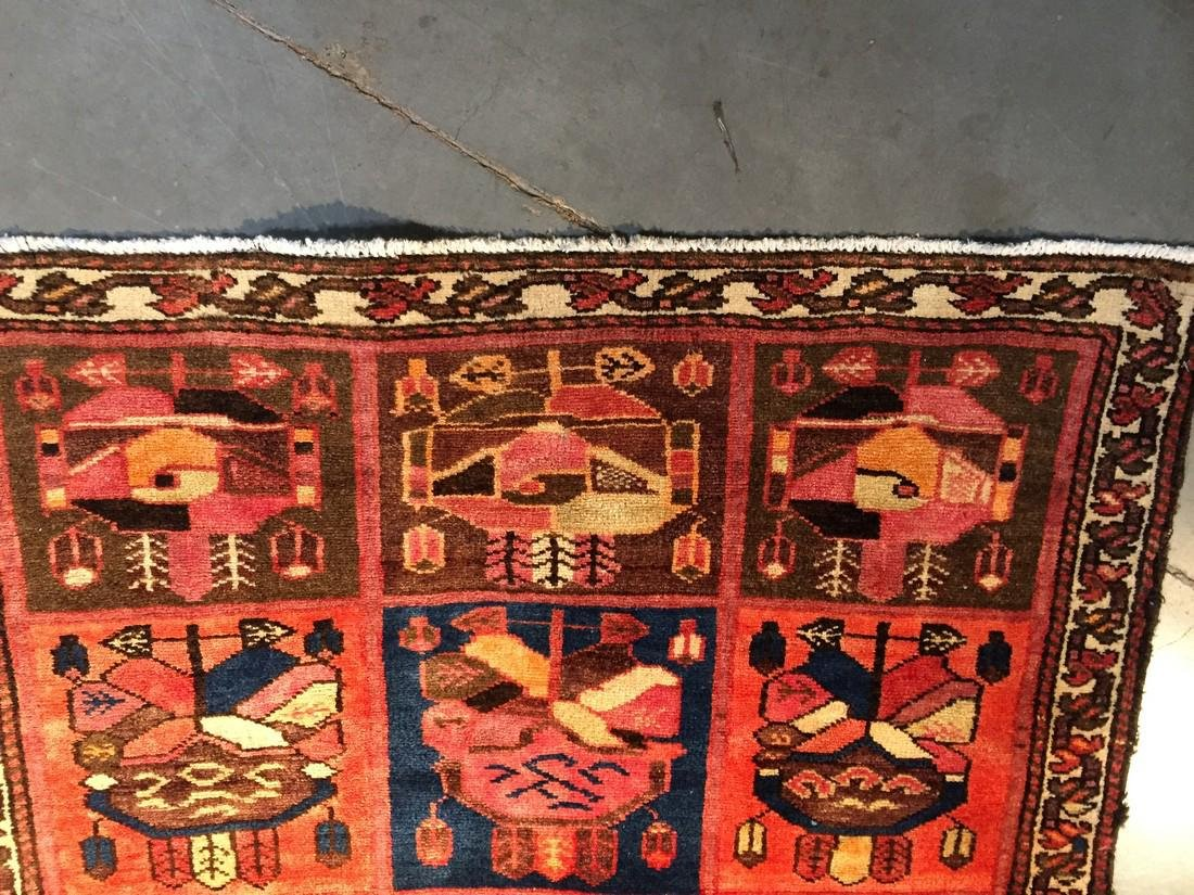 Persian Semi Antique Bakhtiari Runner Rug 3.5x10 - 6