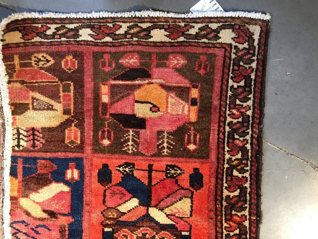 Persian Semi Antique Bakhtiari Runner Rug 3.5x10 - 8
