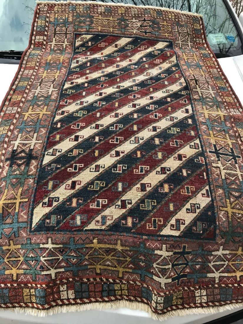 Antique Caucasian Shahsavan Rug 3x5