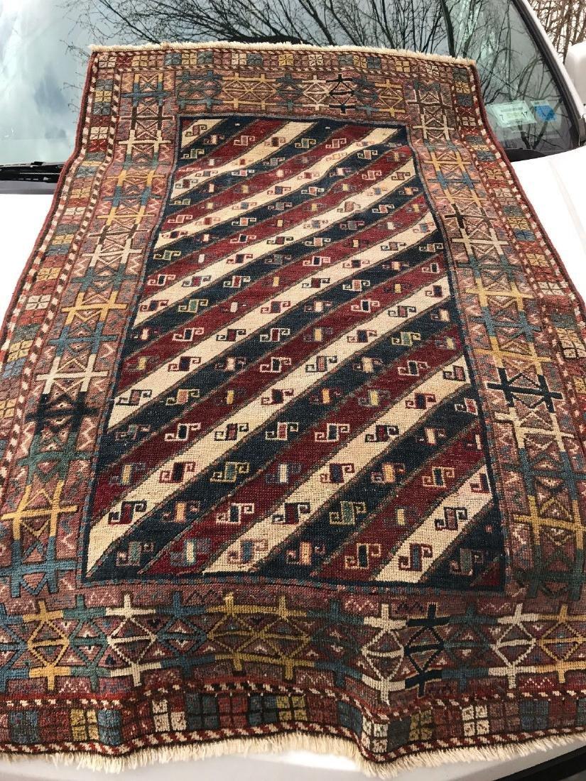 Antique Caucasian Shahsavan Rug 3x5 - 2