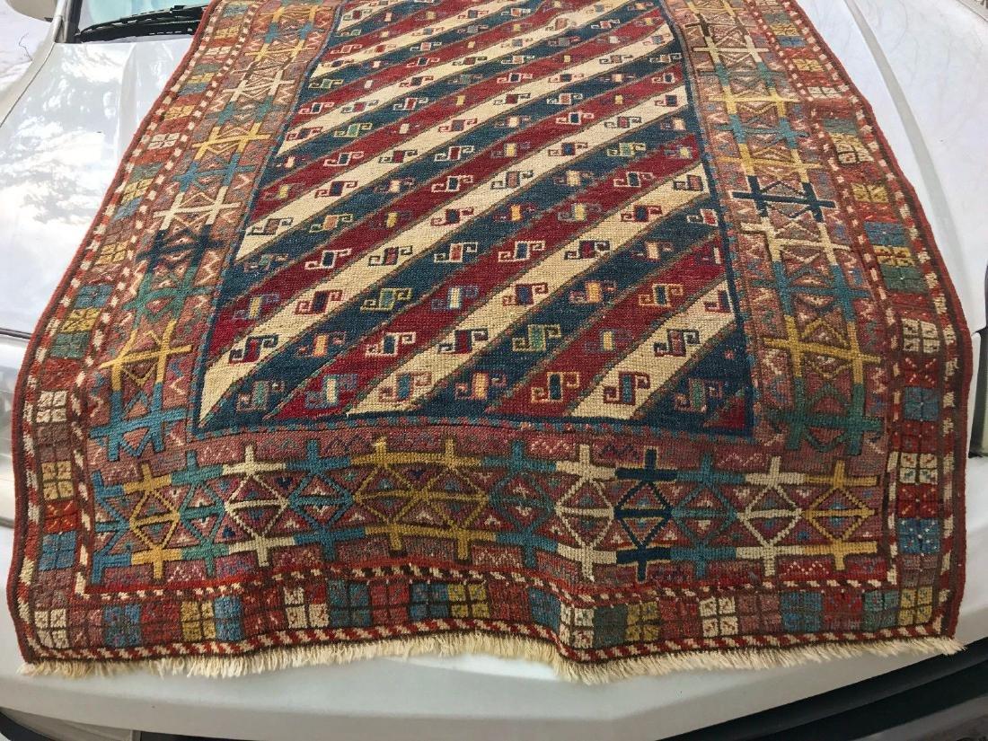 Antique Caucasian Shahsavan Rug 3x5 - 4