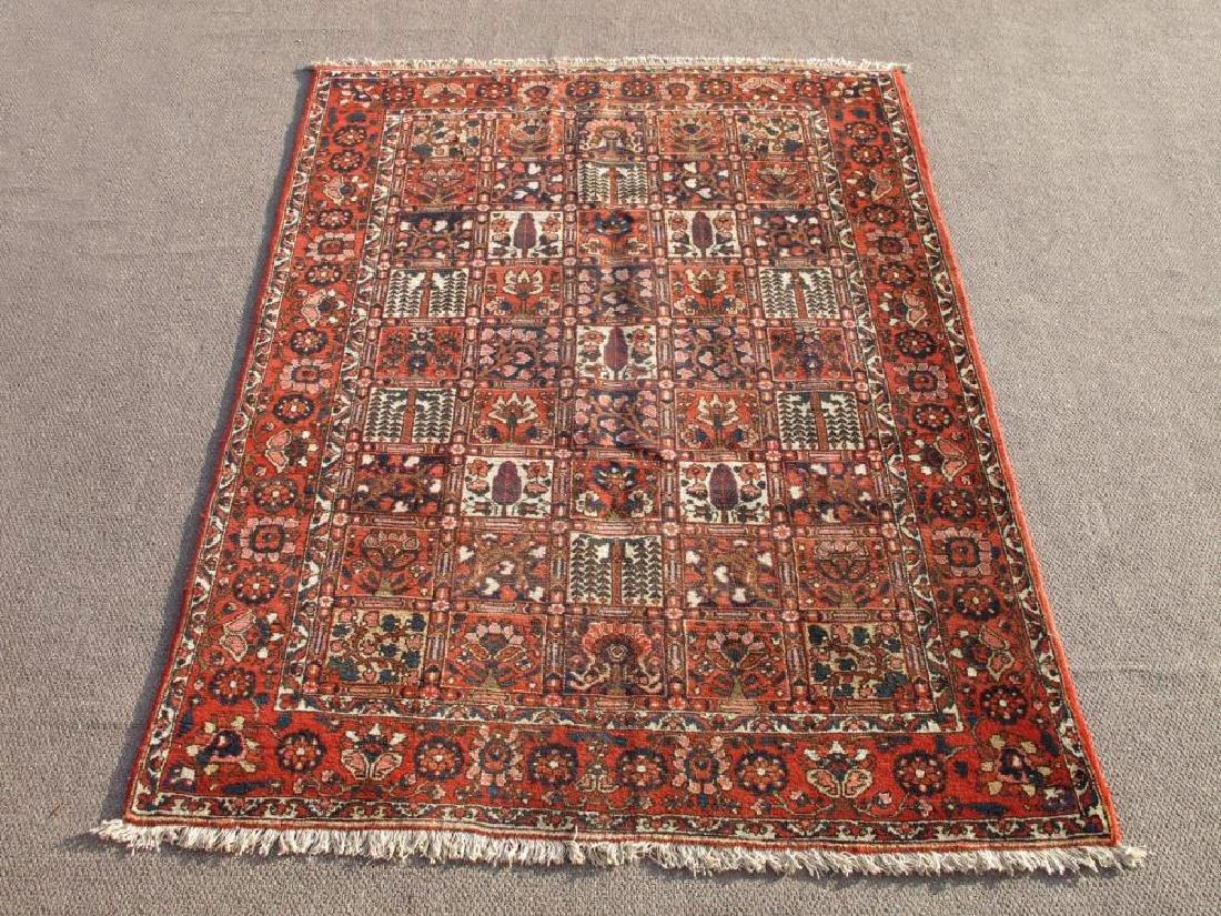 Handmade Wool Semi Antique Persian Bakhtiari Rug 10x7