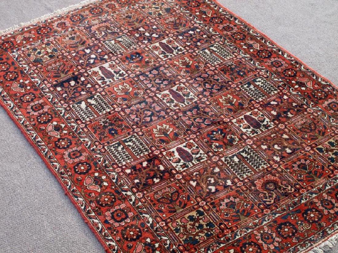 Handmade Wool Semi Antique Persian Bakhtiari Rug 10x7 - 2