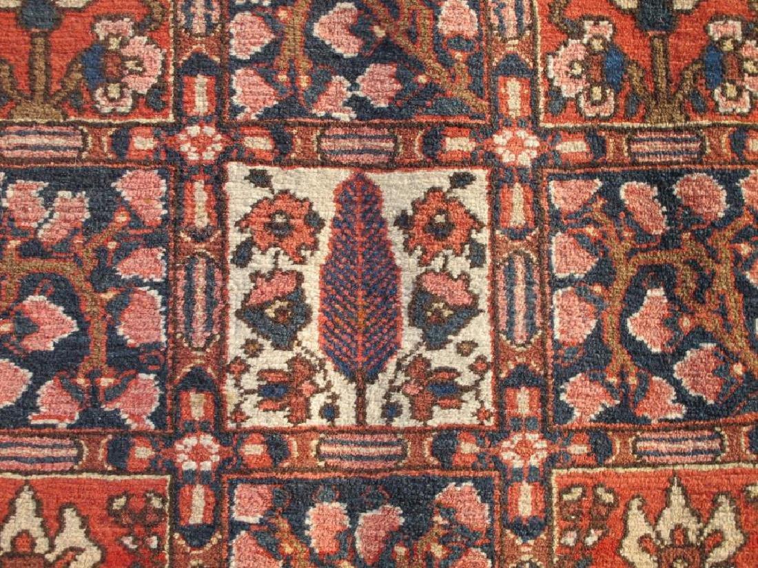 Handmade Wool Semi Antique Persian Bakhtiari Rug 10x7 - 4