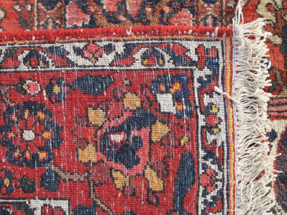 Handmade Wool Semi Antique Persian Bakhtiari Rug 10x7 - 5