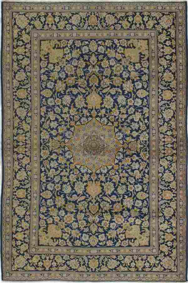 Fine Semi Antique Persian Kashan Rug 4x7