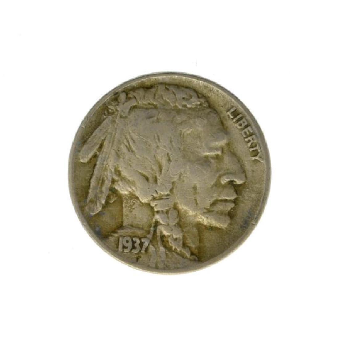1937-D 3 Leg Buffalo Nickel Coin - Very Rare - (JG PS)
