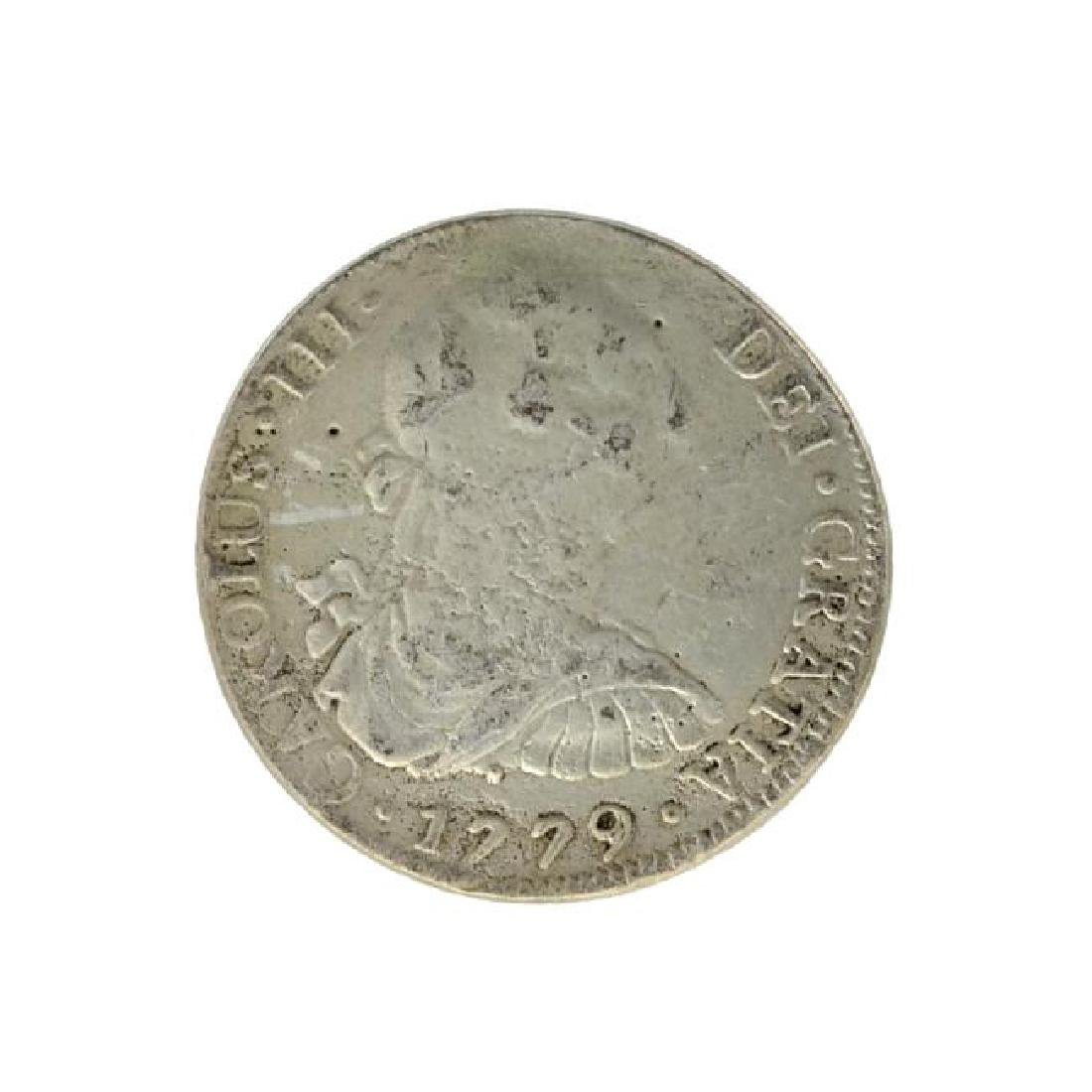 1779 Eight Reales American First Silver Dollar Coin -