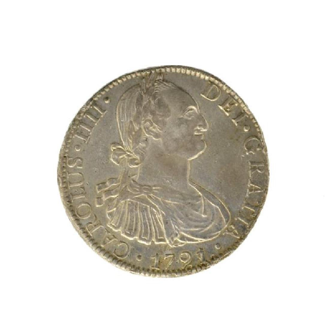 1791 Eight Reales American First Silver Dollar Coin