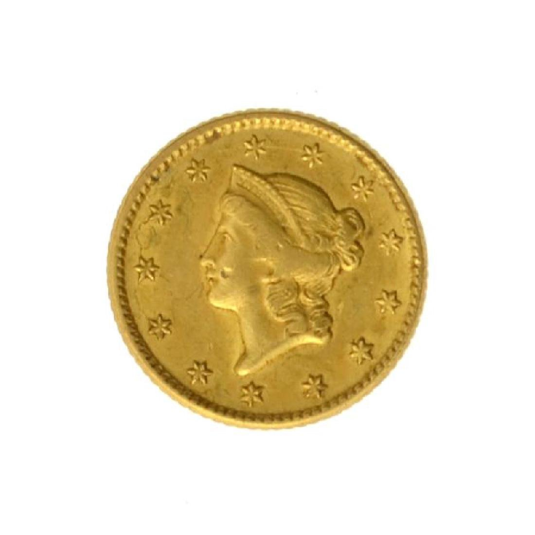 1851 $1 U.S. Liberty Head Gold Coin - Great Investment