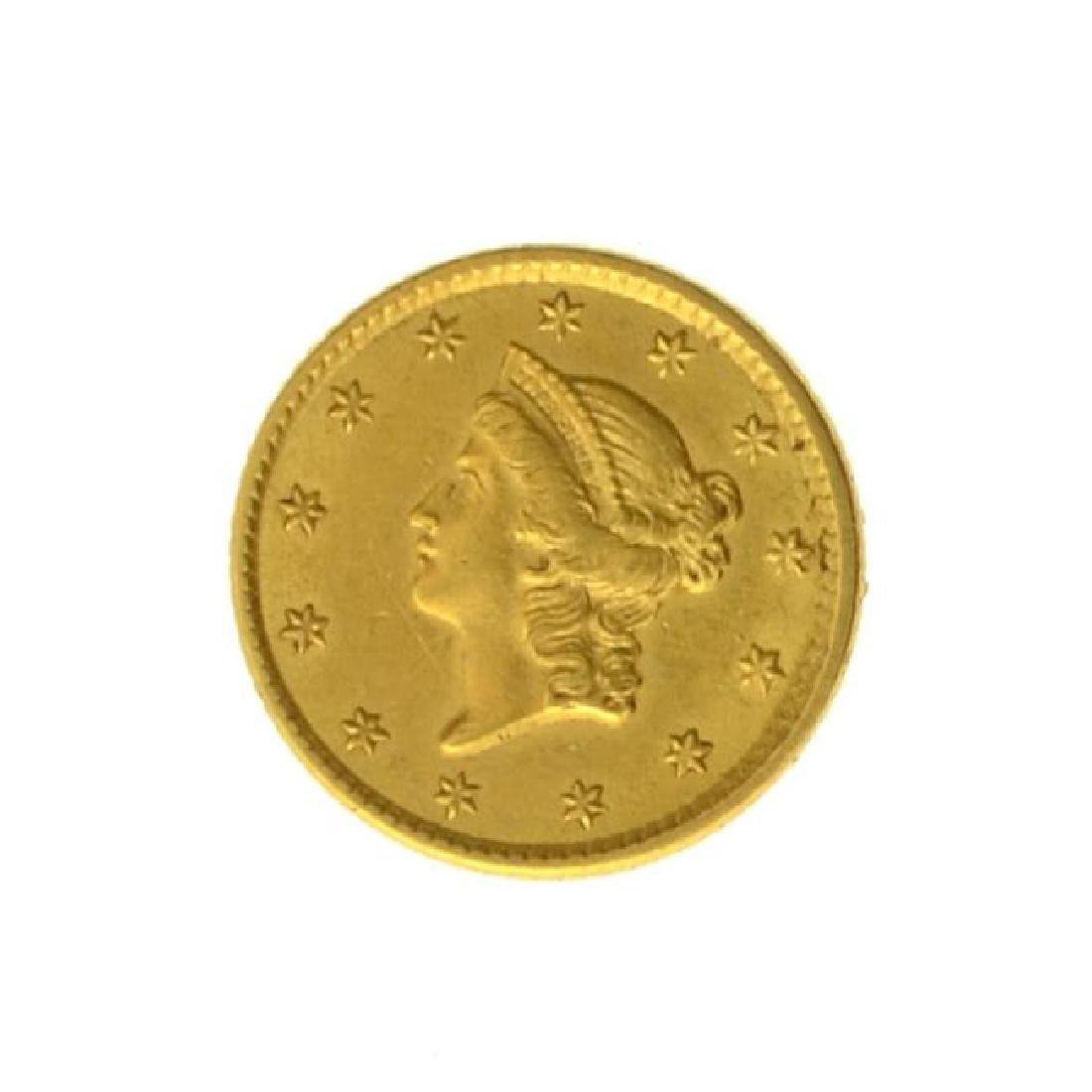 1853 $1 U.S. Liberty Head Gold Coin - Great Investment