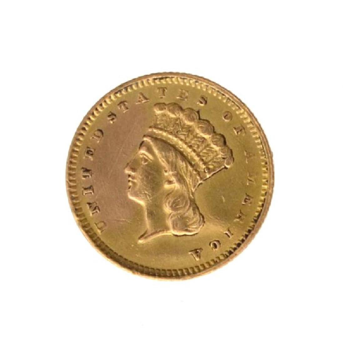 1857 $1 U.S. Indian Head Gold Coin - Great Investment