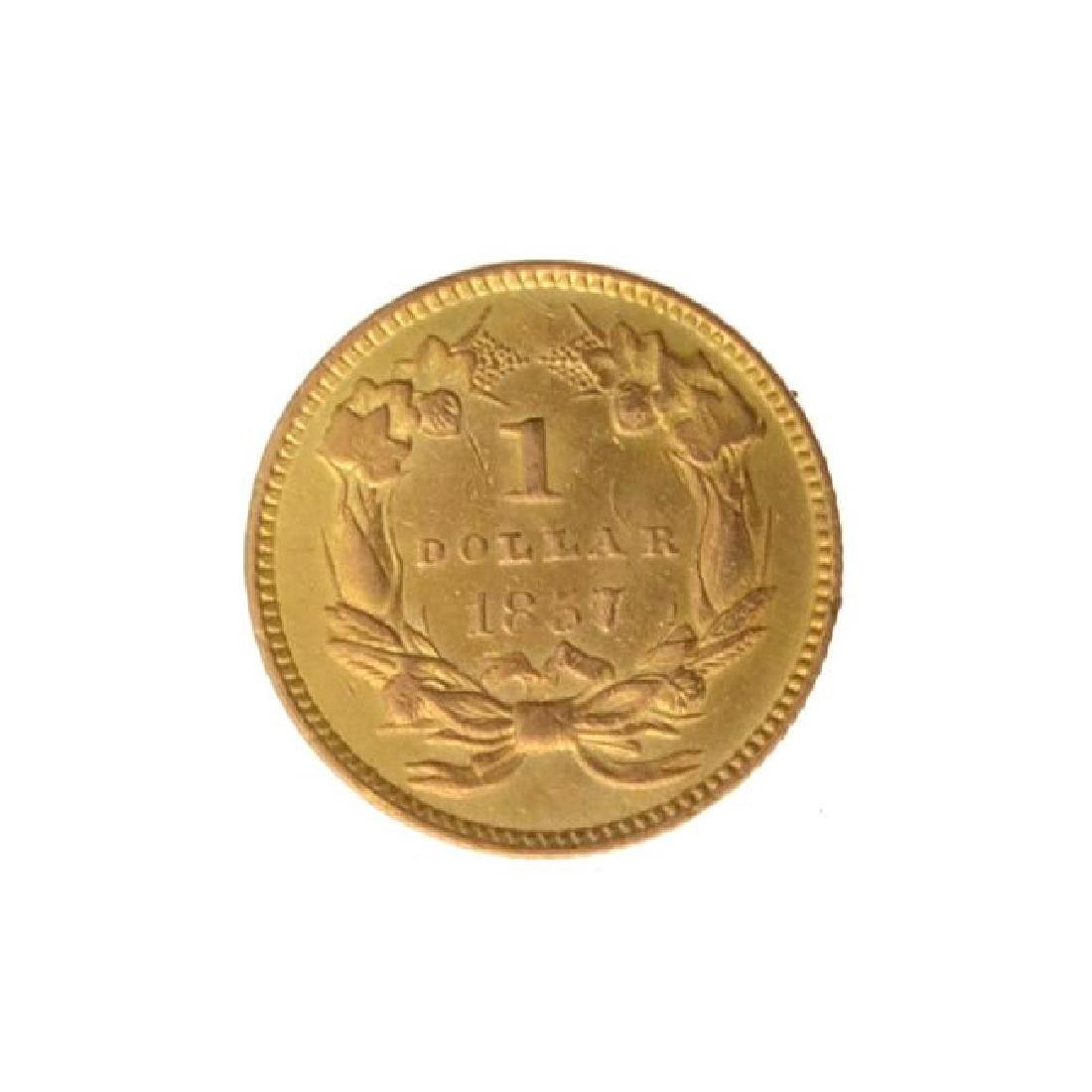 1857 $1 U.S. Indian Head Gold Coin - Great Investment - 2