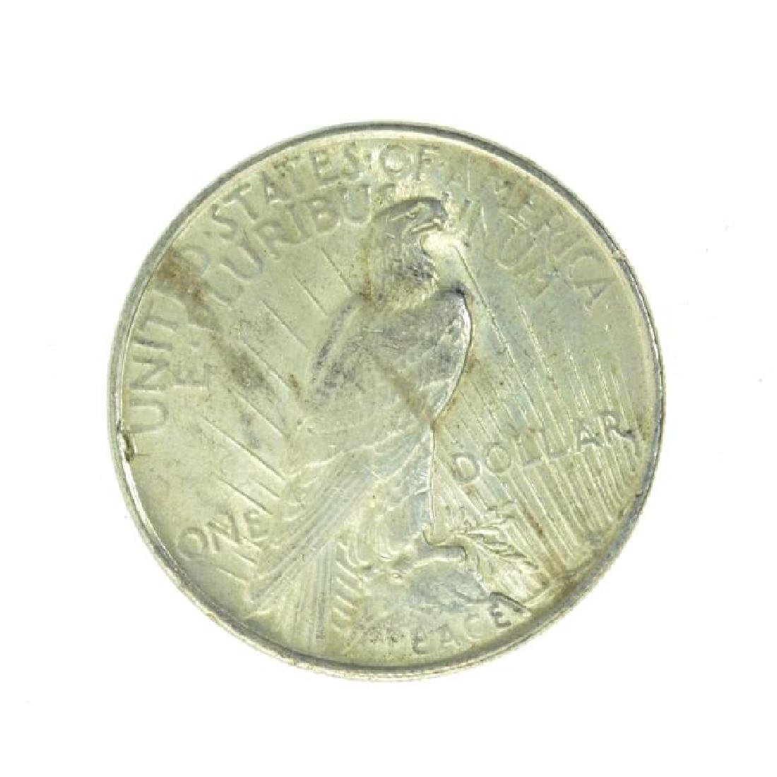 1922 Peace Silver Dollar Coin - 2