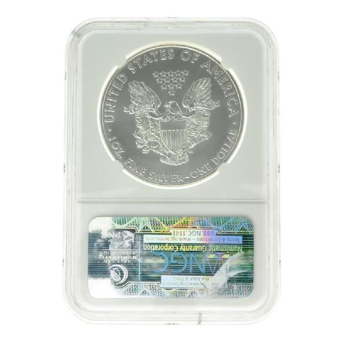 2011 $1 25th Anniversary Silver Eagle NGC MS70 Coin - 2