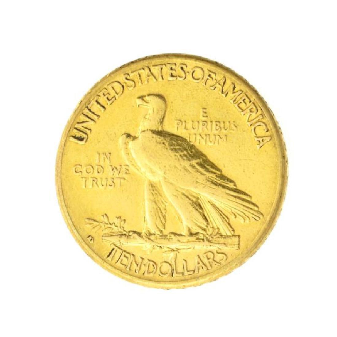 1910-D $10 U.S. Indian Head Gold Coin (JG) - 2