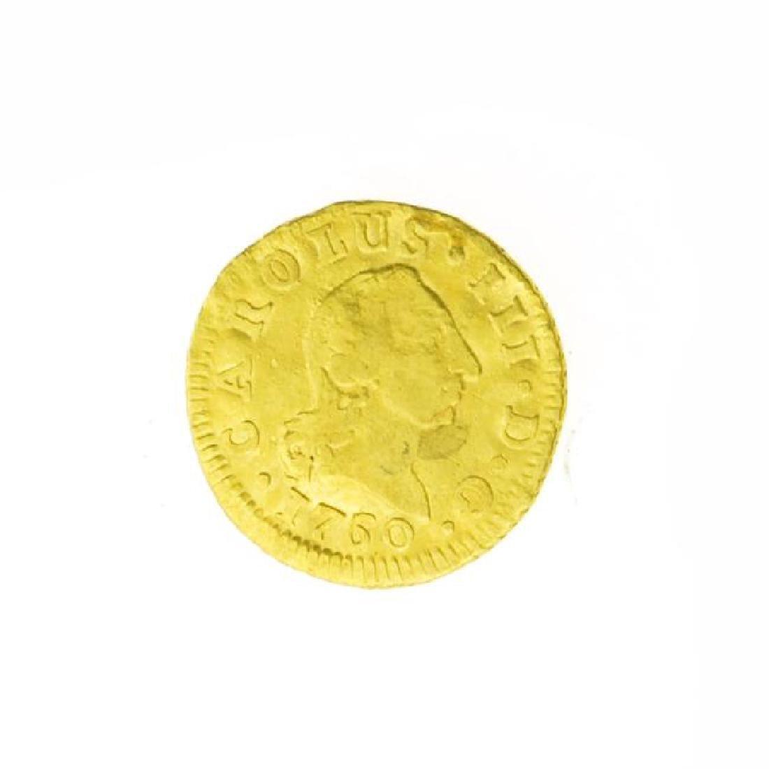 1760 Spanish Cob Gold Coin (JG)