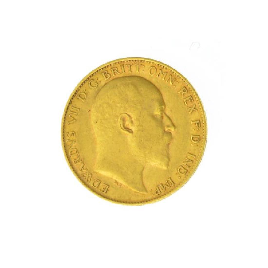 1902 British Half Sovereign Gold Coin (JG)