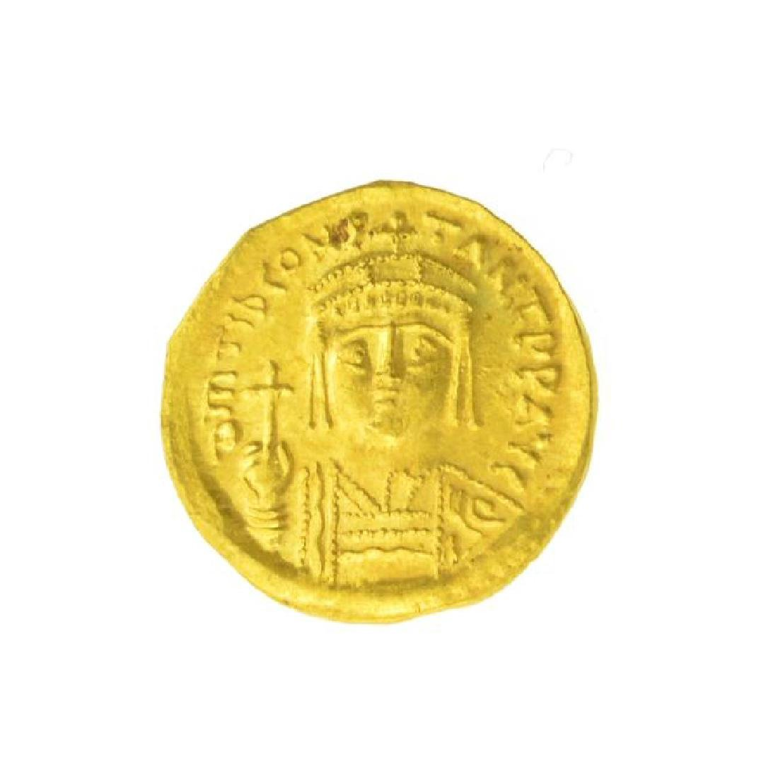 AD Tiberius Constantine Gold Coin (JG)