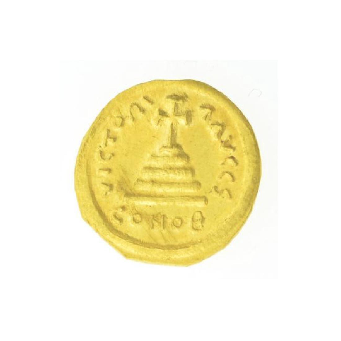 AD Tiberius Constantine Gold Coin (JG) - 2