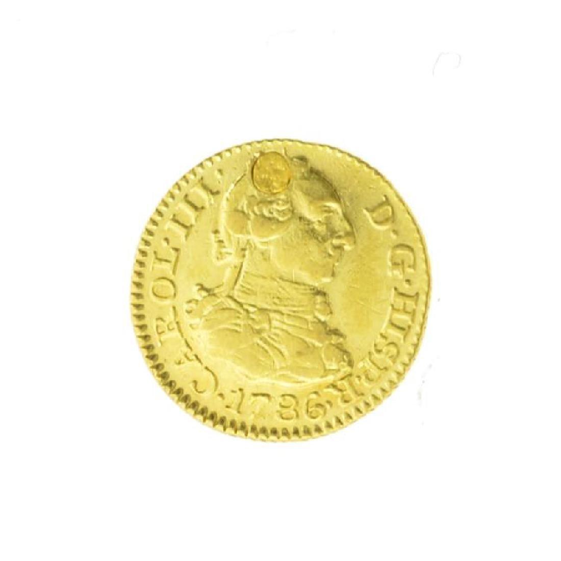 1786 Spain Half Escudo Carlos III Gold Coin (JG)