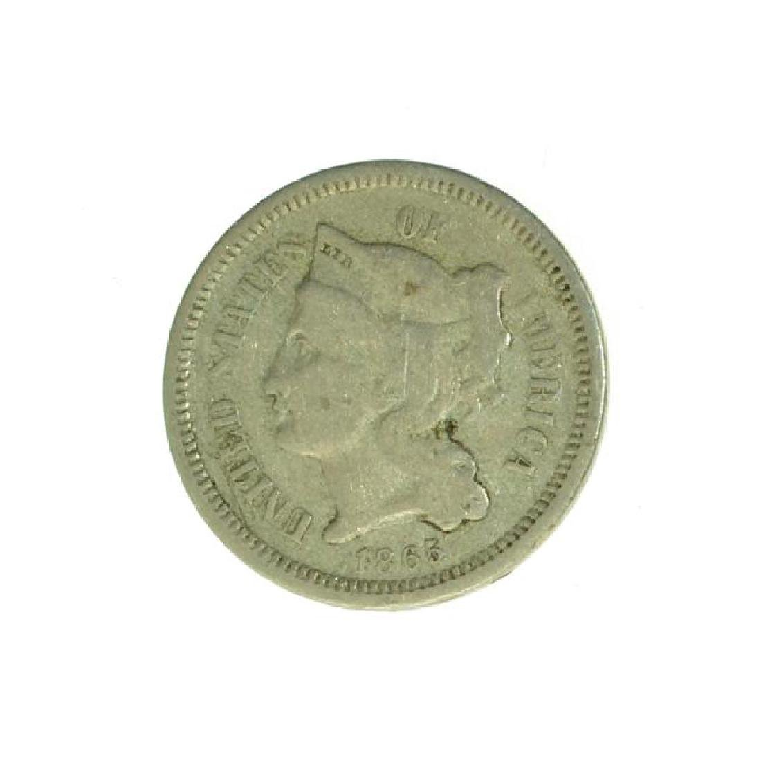 1865 3 Cent Nickel Coin (JG)