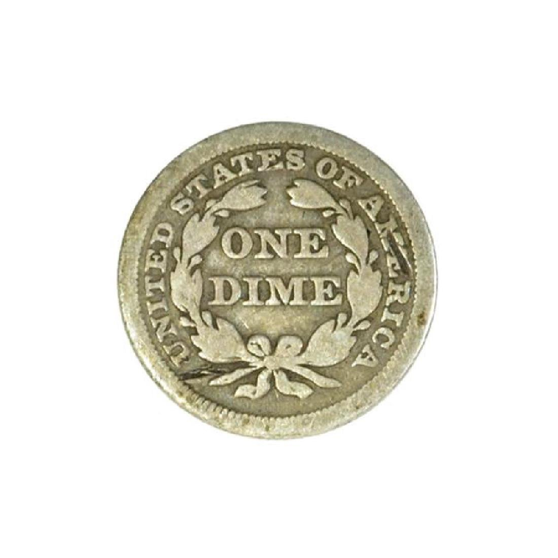 1855 Arrows at Date Liberty Seated Dime Coin (JG) - 2